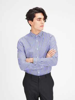 STRIPED EGYPTIAN COTTON LONG SLEEVED SHIRT