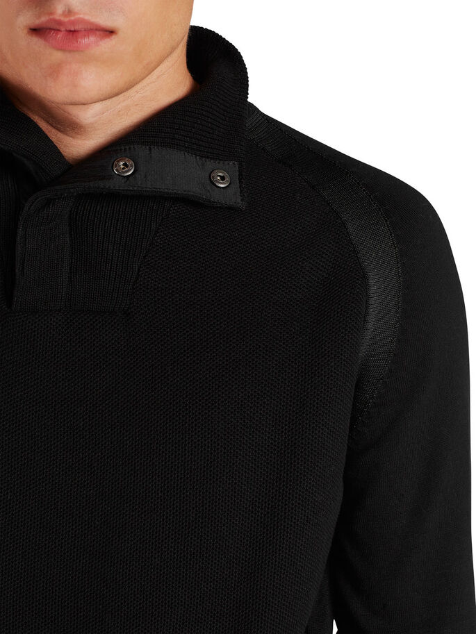 HIGH-NECK- PULLOVER, Black, large