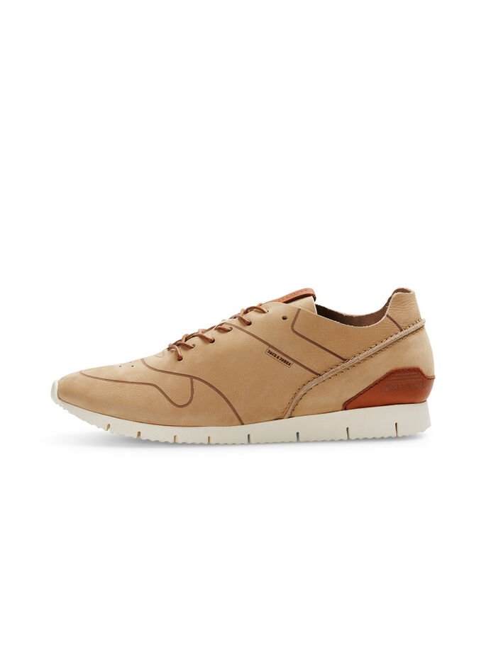 LEATHER TRAINERS, Plaza Taupe, large