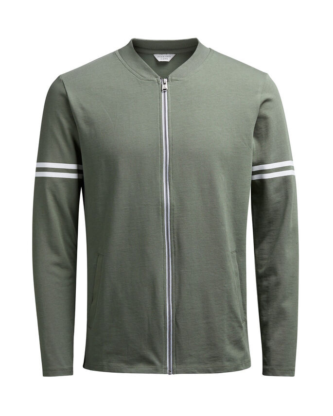 GRAFISK SWEATSHIRT, Dusty Olive, large