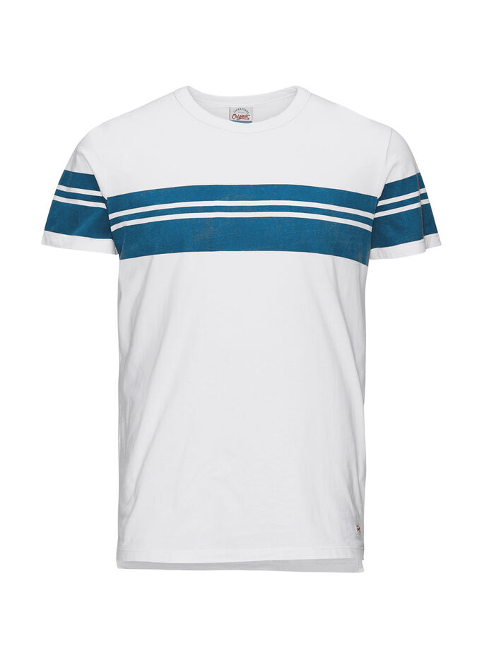 SPORTS INSPIRED T-SHIRT, White, large