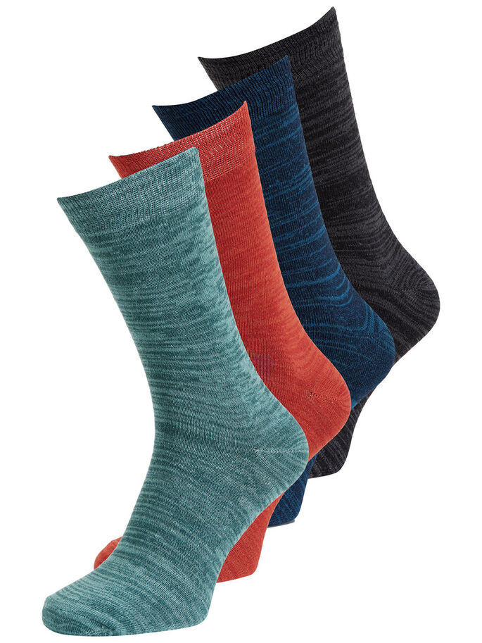 BASIC 4 PACK SOCKS, Navy Blazer, large