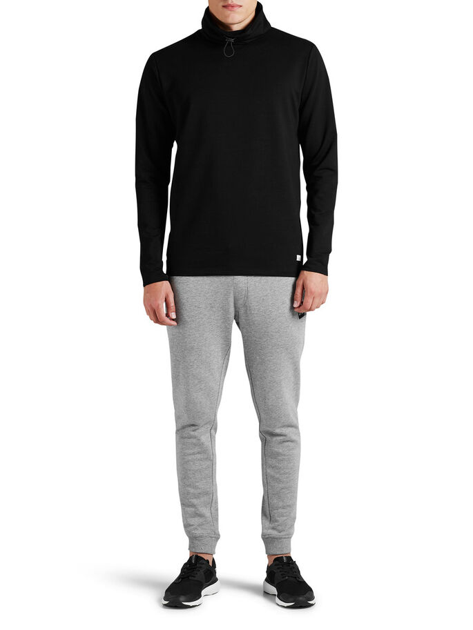 HØY HALS SWEATSHIRT, Black, large