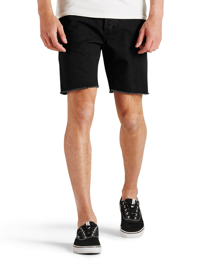 5-POCKET SHORTS, Black Denim, large