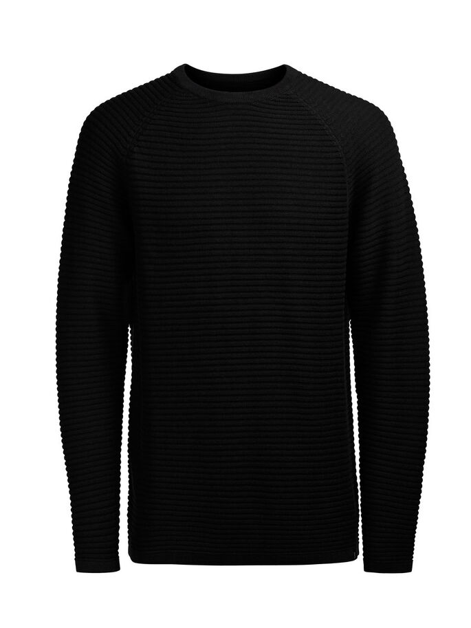 TEKSTURERET PULLOVER, Black, large