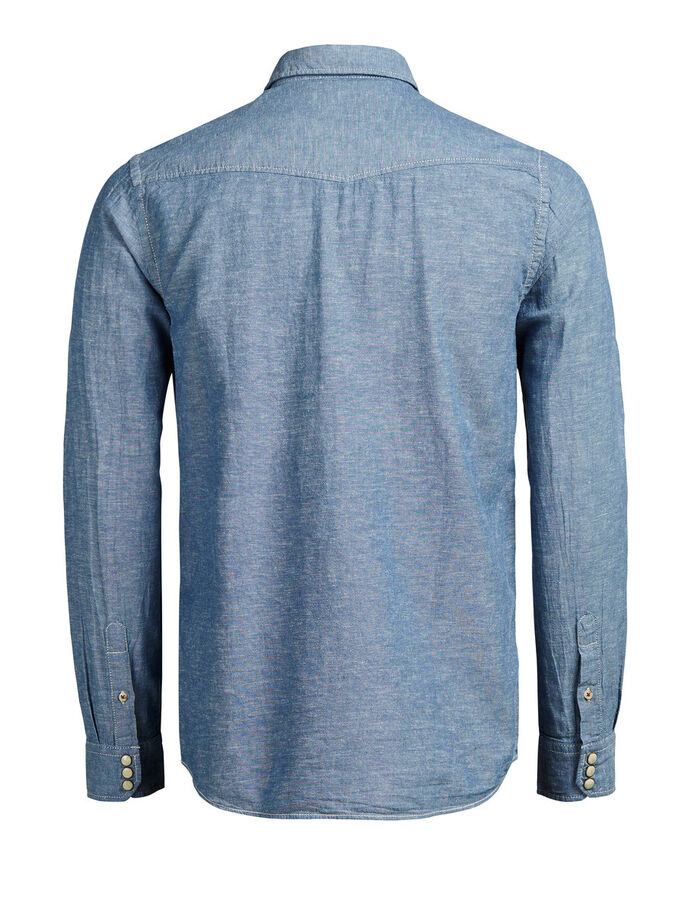 WESTERN LONG SLEEVED SHIRT, Provincial Blue, large