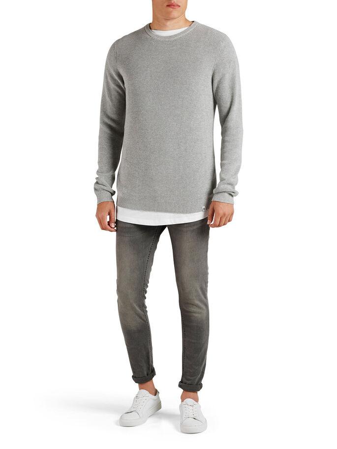 CLEAN-CUT PULLOVER, Light Grey Melange, large