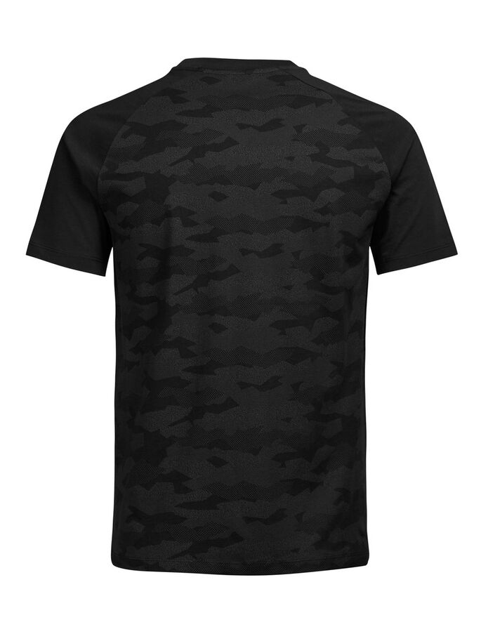 CAMOUFLAGE T-SHIRT, Black, large