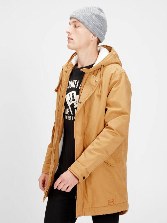 WARME PARKA, Bone Brown, large