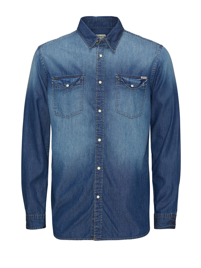 DENIM - CAMISA, Medium Blue Denim, large