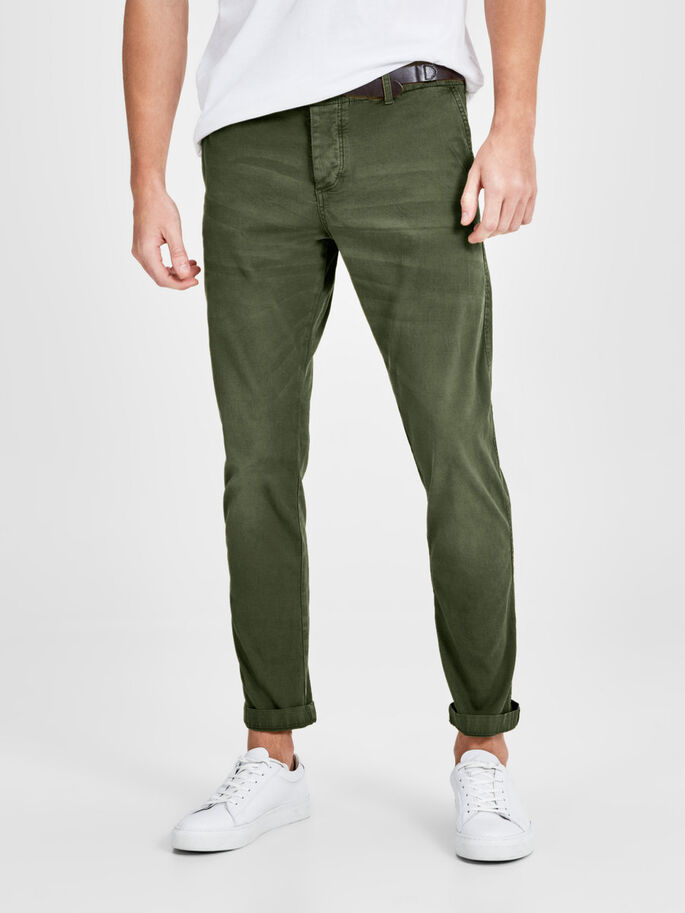 CODY AKM 195 CHINOS, Olive Night, large