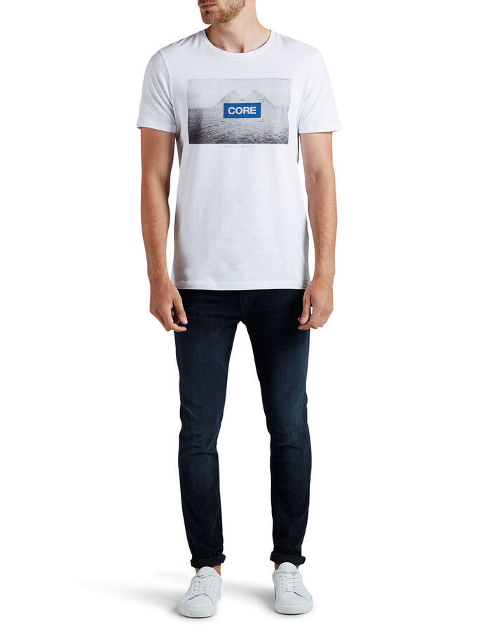 GRAFISK T-SHIRT, White, large
