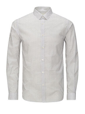 MICRO PRINT LONG SLEEVED SHIRT