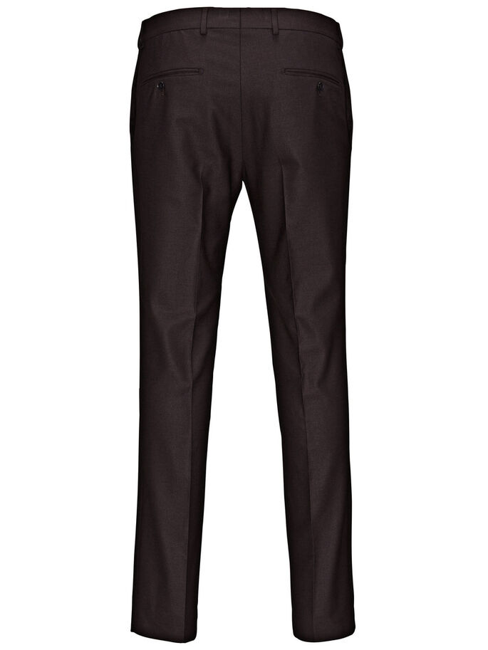 ELEGANT SLIM FIT SUIT PANTS, Port., large