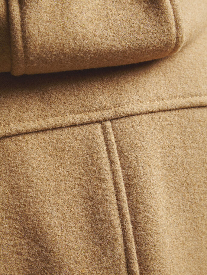 HIGH NECK JACKET, Beige, large