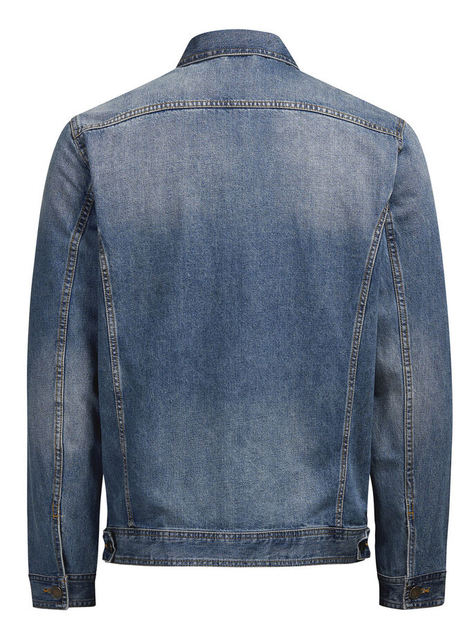 JEAN DENIM JACKET, Blue Denim, large