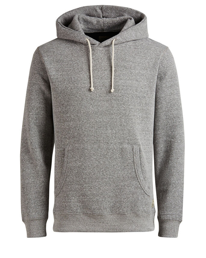 KLASSISK HOODIE, Light Grey Melange, large