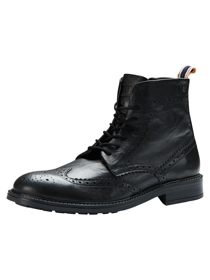 BROGUE BOOTS, Black, large