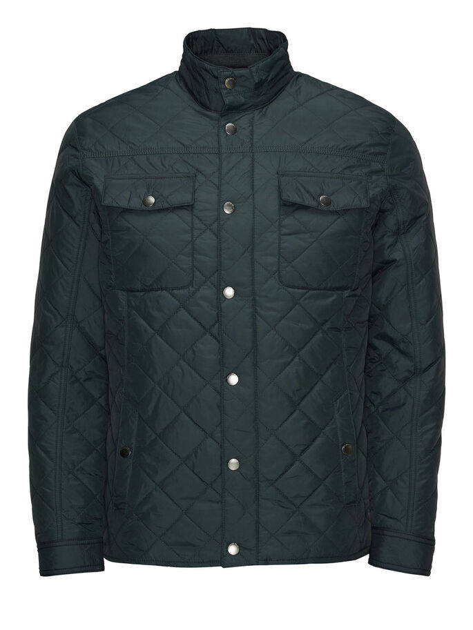 QUILTED JACKET, Darkest Spruce, large
