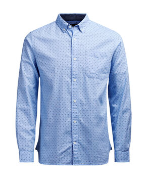 GEMUSTERTES BUTTON-DOWN-OXFORD- LANGARMHEMD