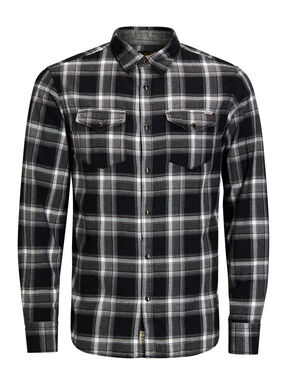 DE CUADROS REGULAR FIT CAMISA DE MANGA LARGA