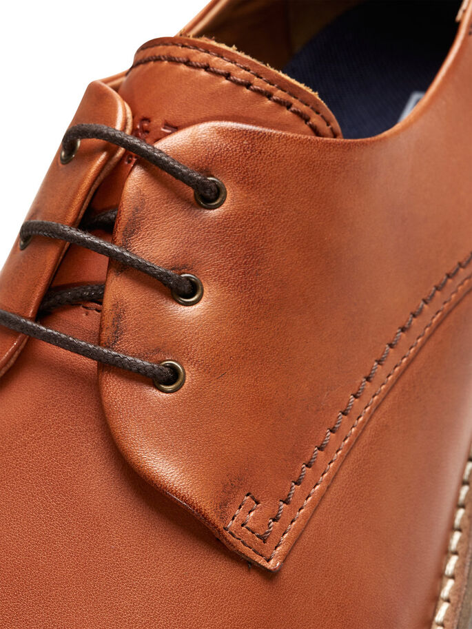 LEATHER SHOES, Cognac, large