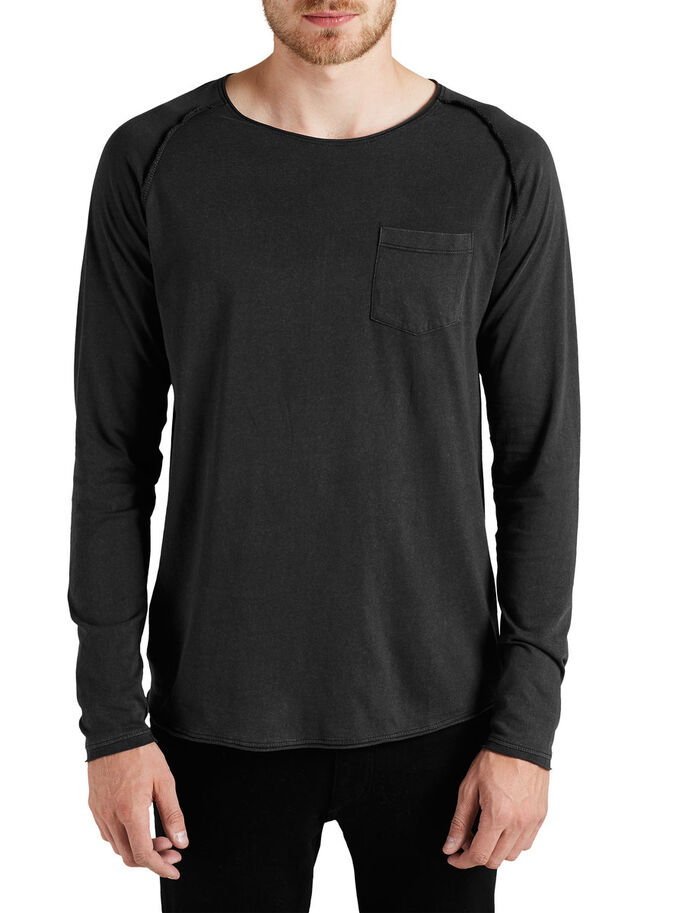 LET LANGÆRMET LANGÆRMET T-SHIRT, Black, large