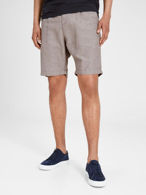 LINEN SOLID CHINO SHORTS