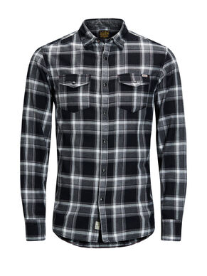 REGULAR FIT A QUADRI CAMICIA A MANICHE LUNGHE