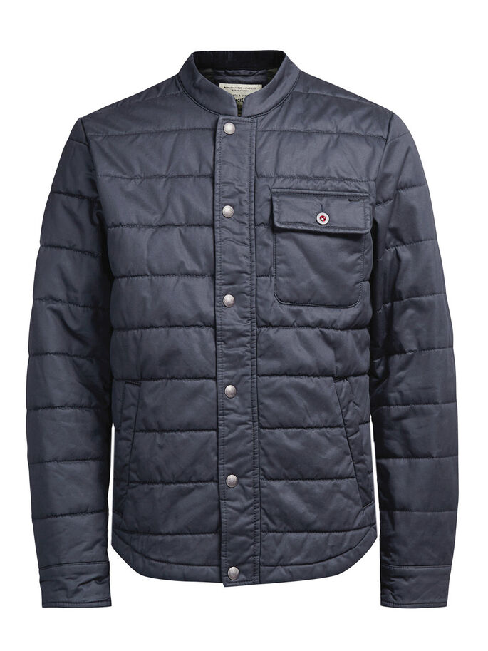 LIGHTWEIGHT QUILTED JACKET, Dark Navy, large