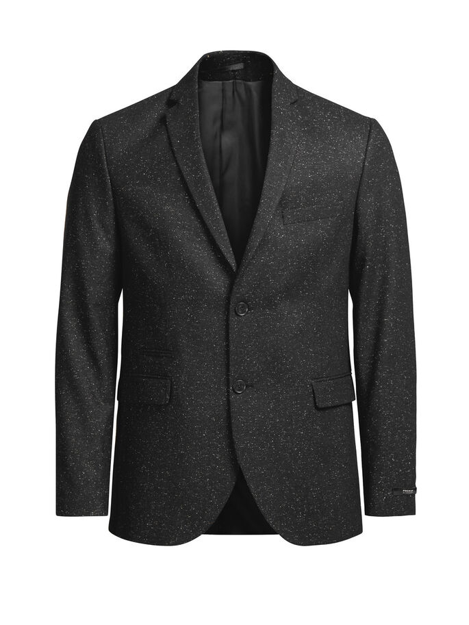 VARIEGATO IN LANA E SETA BLAZER, Black, large