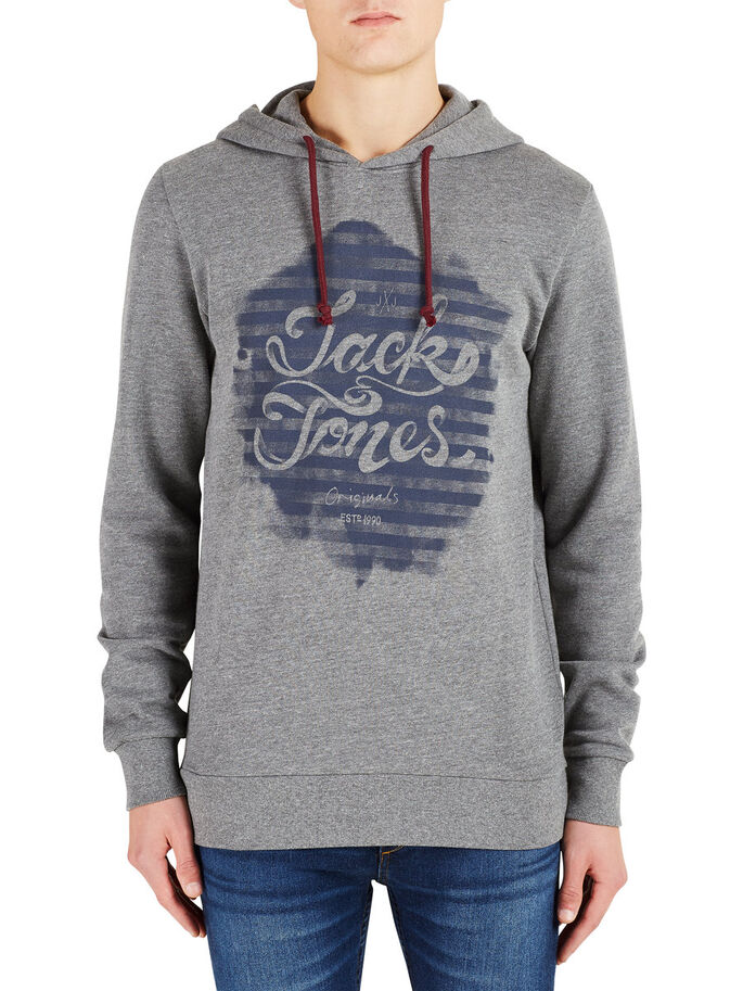 LÄSSIGES SWEATSHIRT, Dark Grey Melange, large