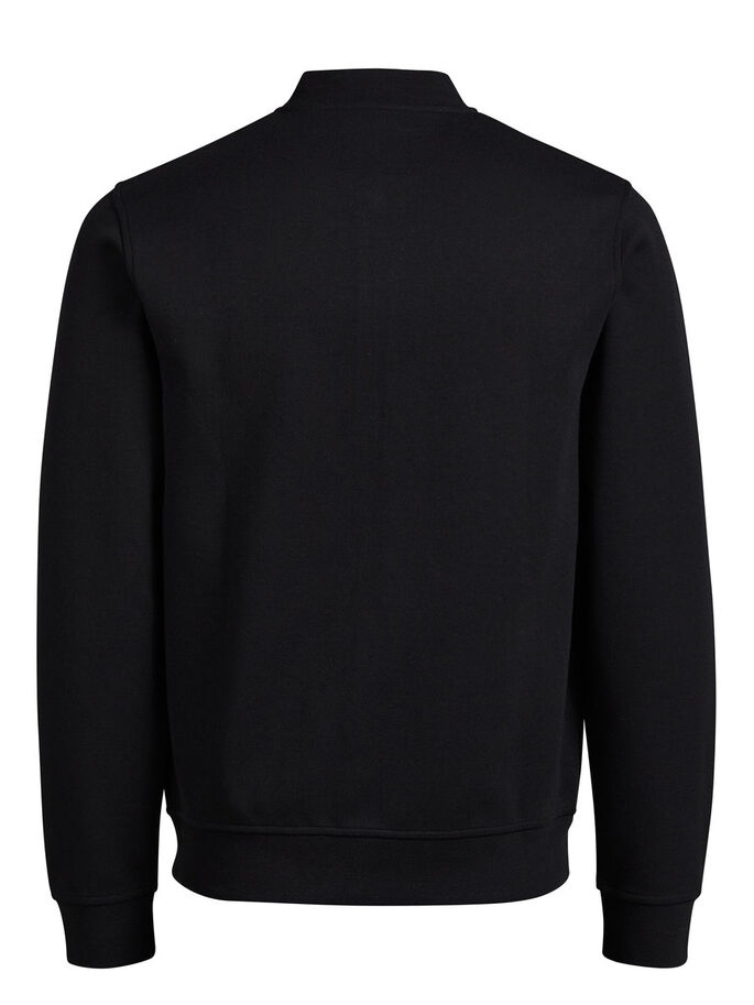 BASEBALL SWEATSHIRT MED GLIDELÅS, Black, large