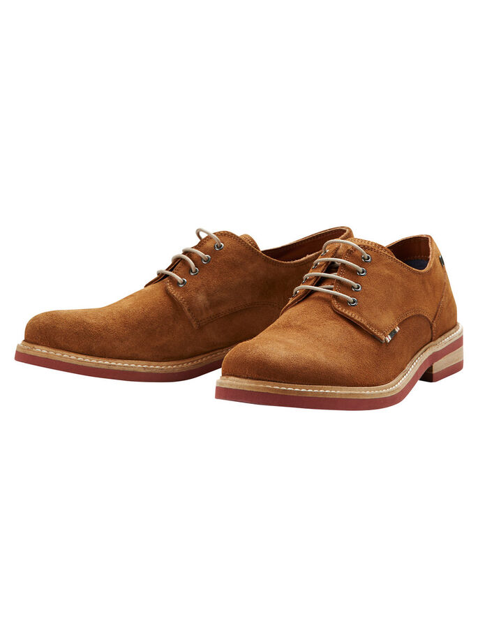 DERBY SHOES, Cognac, large