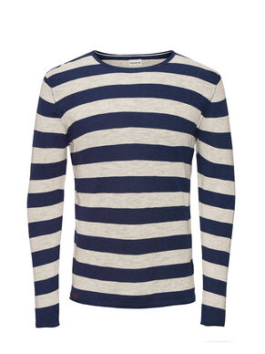 LIGHTWEIGHT STRIPED PULLOVER