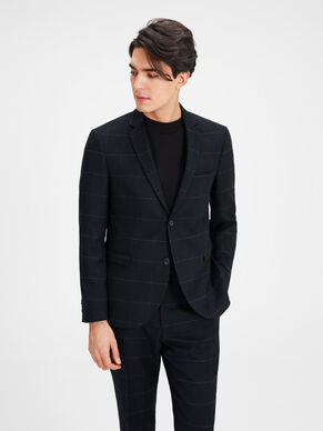 WOOL BLEND WINDOW CHECK BLAZER