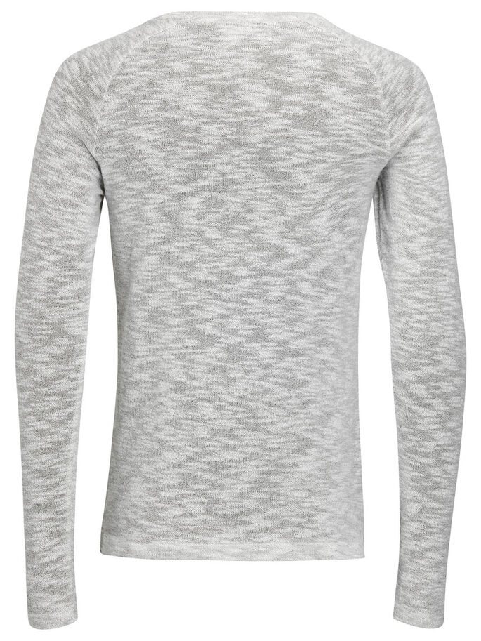 GEMÊLEERD SWEATSHIRT, Light Grey Melange, large