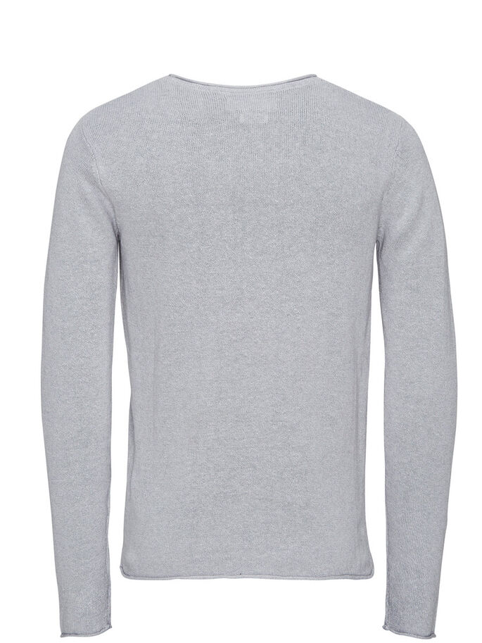 MÉLANGE DE LIN PULLOVER, Cool Grey, large