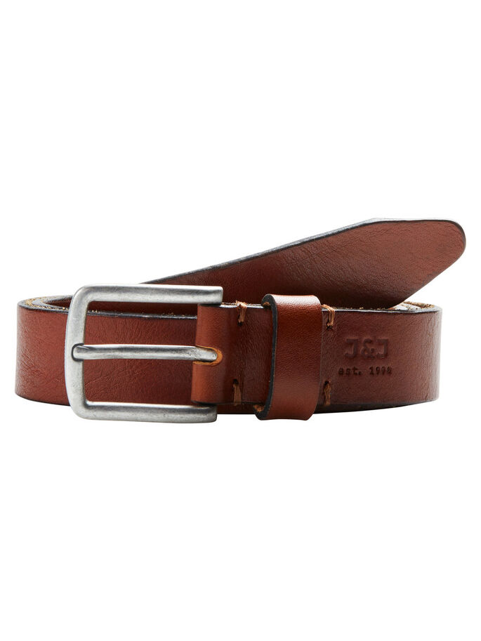 LEATHER BELT, Mocha Bisque, large