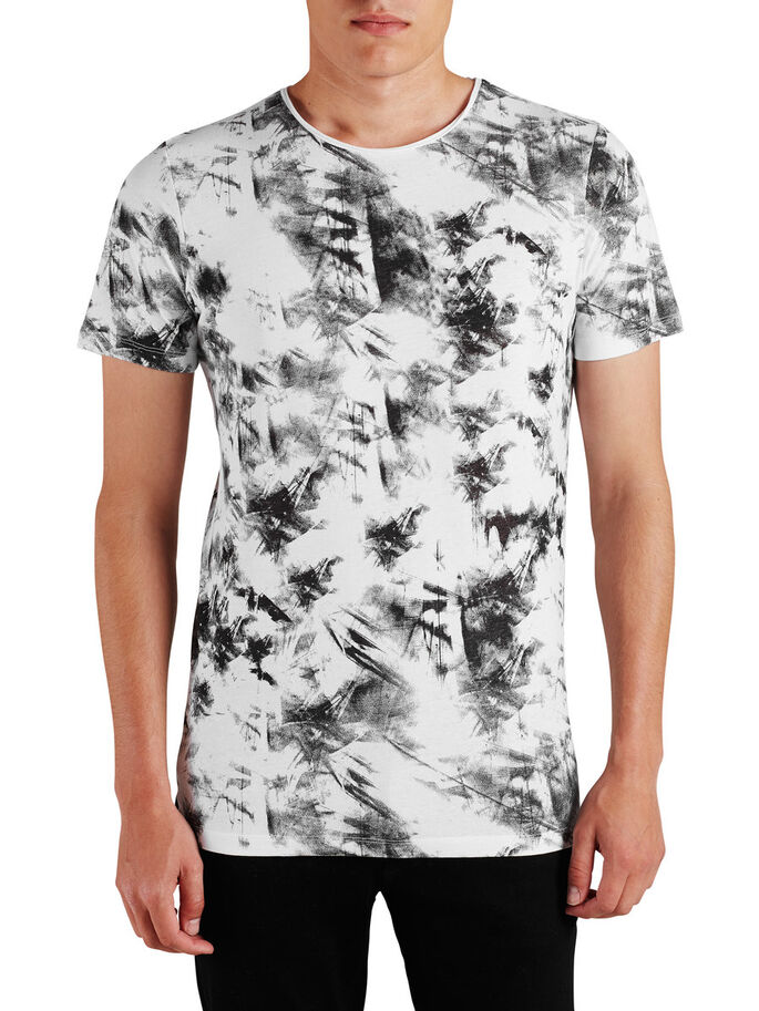 PRINTED T-SHIRT T-SHIRT, Cloud Dancer, large