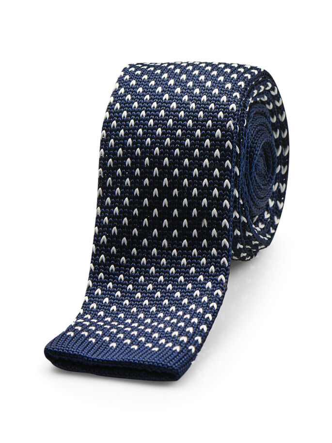 KNITTED TIE, Navy Blazer, large