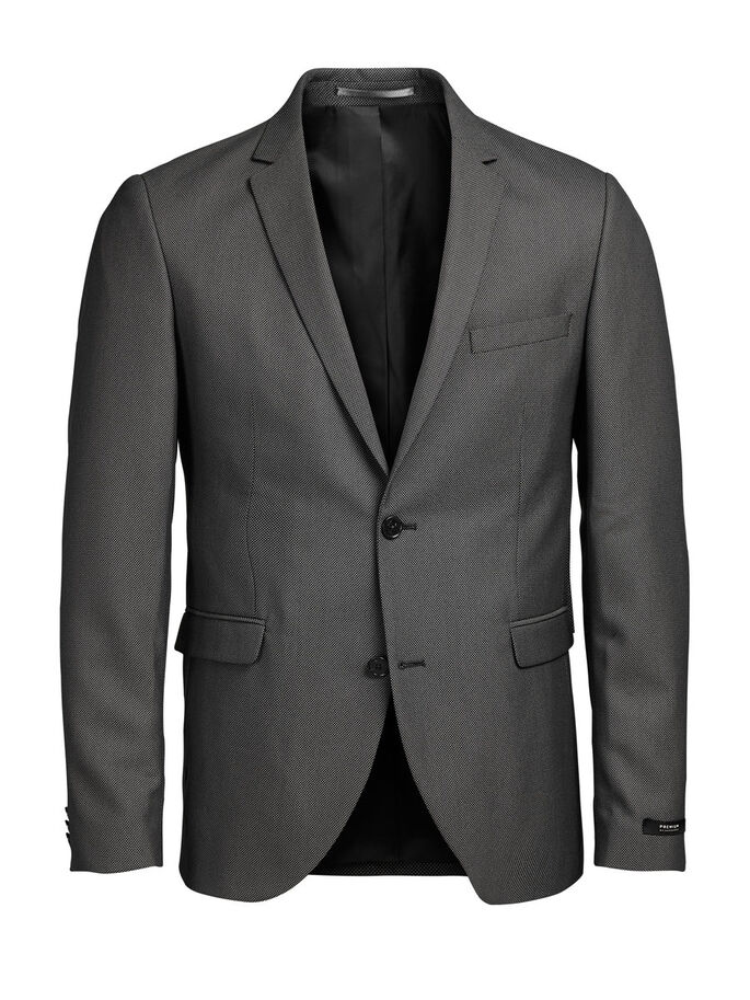 GRÅ SLIM FIT KAVAJ, Dark Grey, large