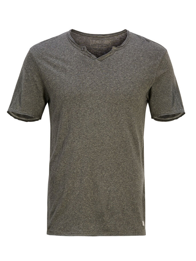 SCHLICHTES T-SHIRT, Olive Night, large