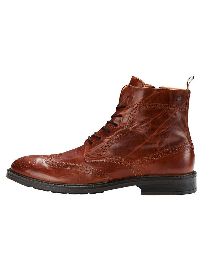 BROGUE- STIEFEL, Cognac, large