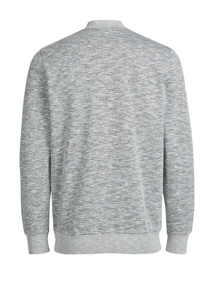 BLOUSON- SWEATSHIRT MIT REISSVERSCHLUSS, Light Grey Melange, large