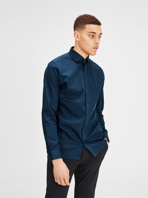 SPREAD COLLAR LONG SLEEVED SHIRT