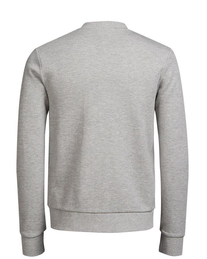 BASEBALL GLIDELÅS SWEATSHIRT MED GLIDELÅS, Cool Grey, large