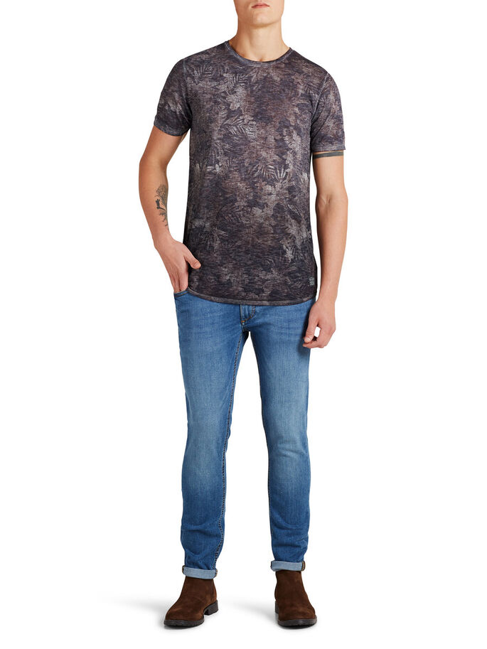 VALE BLOEMENPRINT T-SHIRT, Rum Raisin, large
