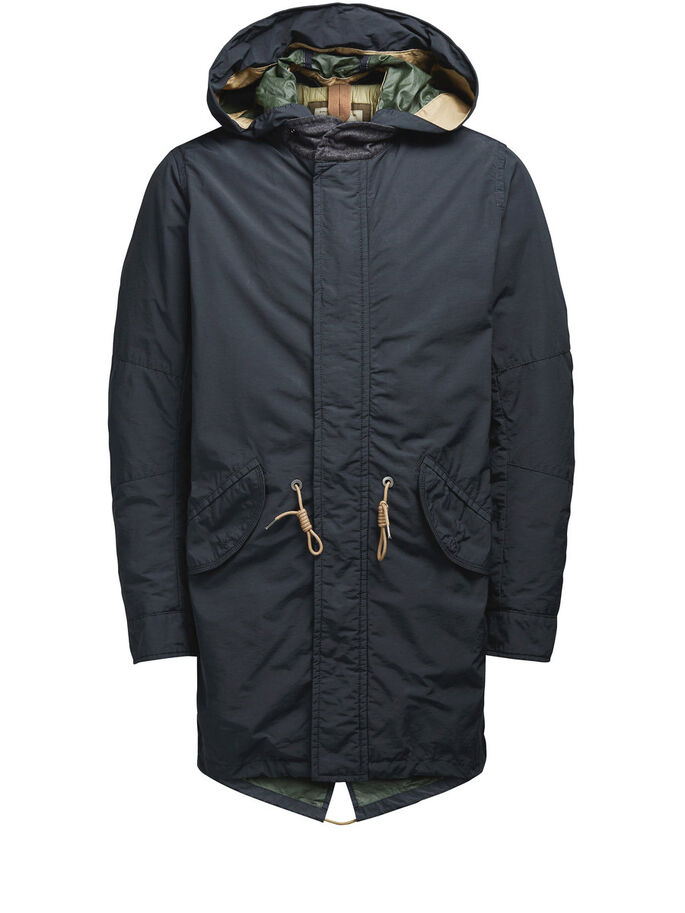 FISHTAIL PARKA COAT, Dark Navy, large