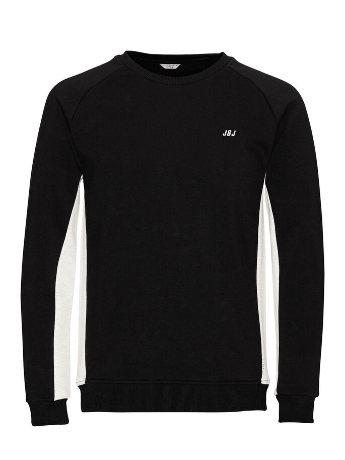 KONTRASTREICHES SWEATSHIRT, Black, large